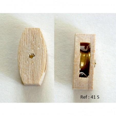 Poulie en bois 41 S