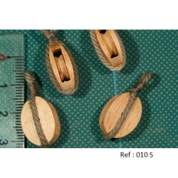 Poulies en bois, simple réa ( réa bois ) avec estrope