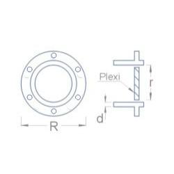Schéma dimensions hublot pour modèle réduit