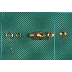Tiger 1 88mm KwK 36 L 56 pièces en laiton