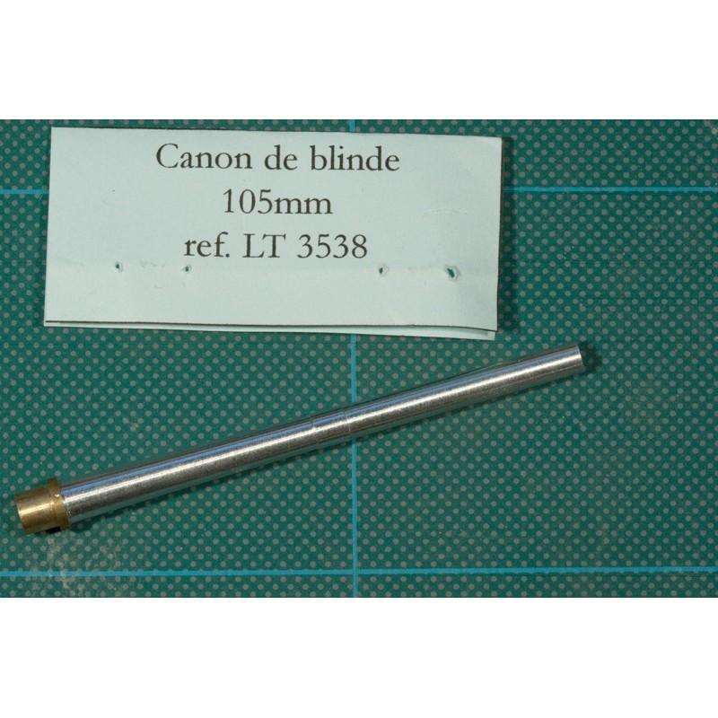 Canon 105 mm en métal tourné